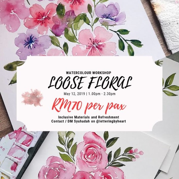 Loose Floral Watercolour Workshop0