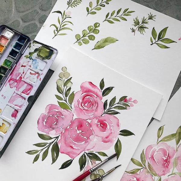 Loose Floral Watercolour Workshop2
