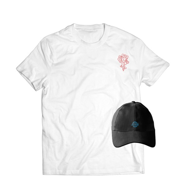 JGFZ Dad Cap + Rose Tee EZ Pack - Shirt Size XL0