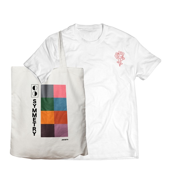 JGFZ Rose Tee + Symmetry Totebag EZ Pack - Shirt Size M0