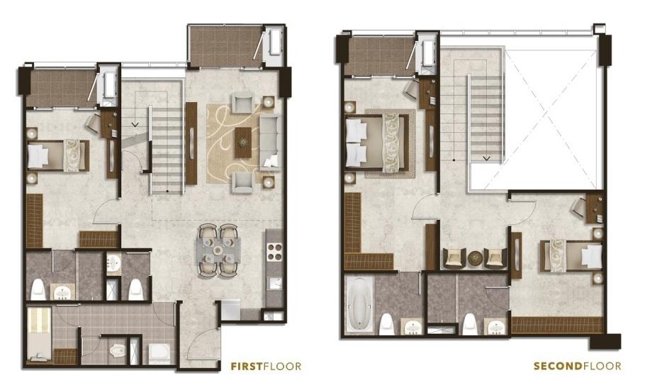 Podomoro City Deli Medan Penthouse 3+1 Bedroom