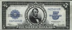 On currency US_$5_1923_Silver_Certificate.jpg