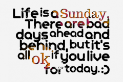 Be Happy with your Sunday Style Life