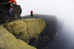 Bike trail On The Cliffs Of Moher.