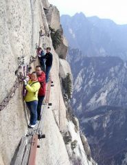 China's Mt Huashan Death trail