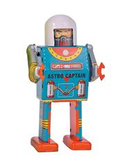 Old-school Tin Toy Astro Captain Robot