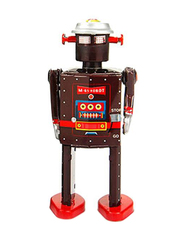 Old-school Tin Toy M-65 Robot (Brown)