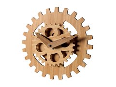 Bamboo Gear Clock