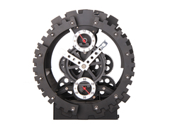 Double Gear Desk Clock