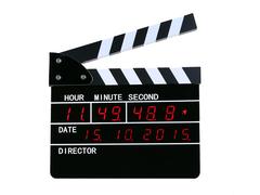 Movie Clapper LED Clock