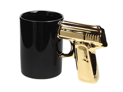 Totally Swanky Gun Handle Mug