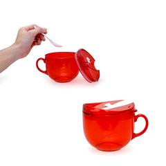 Hearty Soup Mug With Spoon