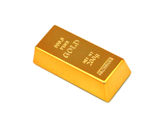 Flashy Gold Bar Bottle Opener & Fridge Magnet