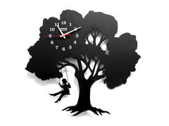 Child On A Swing Wall Clock