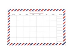 Organised Airmail Desktop Calendar
