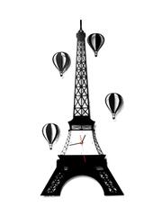 Pictorial Eiffel Tower Wall Clock