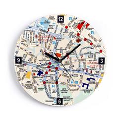Wall Clock - Jerusalem Map