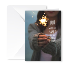 Heartfelt Greeting Card (You Make Me Happy)