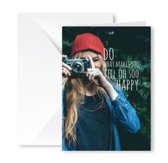 Heartfelt Greeting Card (Feel So Happy)