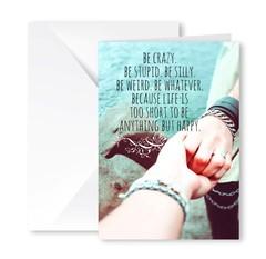 Heartfelt Greeting Card (Crazy, Stupid, Silly)