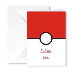 Heartfelt Greeting Card (I Chope You)