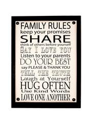Inspiring Wall Art (Family Rules)