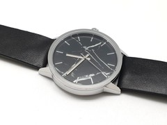 Japan Calf Leather Watch (Black, Marble)