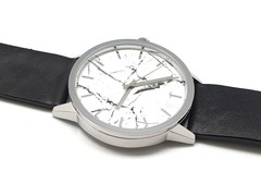 Japan Calf Leather Watch (White, Marble)