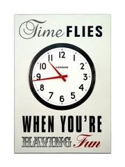Inspiring Wall Clock (Time Flies)