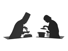 """""""By The Book"""" Bookend - Cooking"""