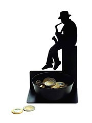 Spare Some Change Saxist Coin Holder