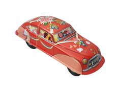 Old-school Tin Toy Just Married Sedan