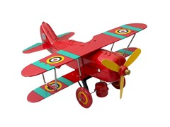Old-school Tin Toy Bi-Plane