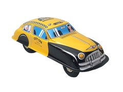 Old-school Tin Toy Taxi Sedan