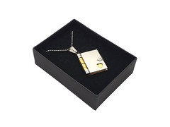 Timeless Stainless Steel Charm With Necklace Chain (Book)