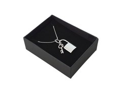Timeless Stainless Steel Charm With Necklace Chain (Lock With Key)