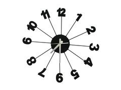 Distinctive Number Spokes Wall Clock