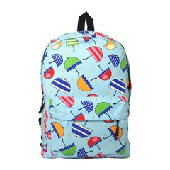 Colourful Canvas Backpack (Umbrellas)