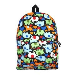 Colourful Canvas Backpack (Elephants)