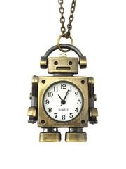 Classic Bronze Necklace Watch (Robot)