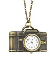 Classic Bronze Necklace Watch (Camera)