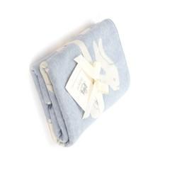 Bashful Blue Bunny Blanket