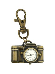 Classic Bronze Keychain Watch (Camera)