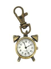 Classic Bronze Keychain Watch (Alarm Clock)