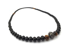Two-Way Bracelet/Necklace Agate Stone With 925 Silver