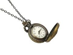 Classic Bronze Necklace Watch (Mini Crown)