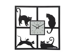 Pictorial Cats Wall Clock