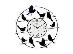 Pictorial Birds On Antenna Wall Clock