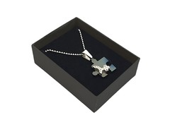 Timeless Charm With Necklace Chain (Jigsaw Puzzle, Bluish Silver)