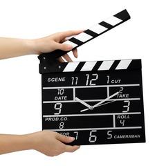 Movie Set Clapper Clock